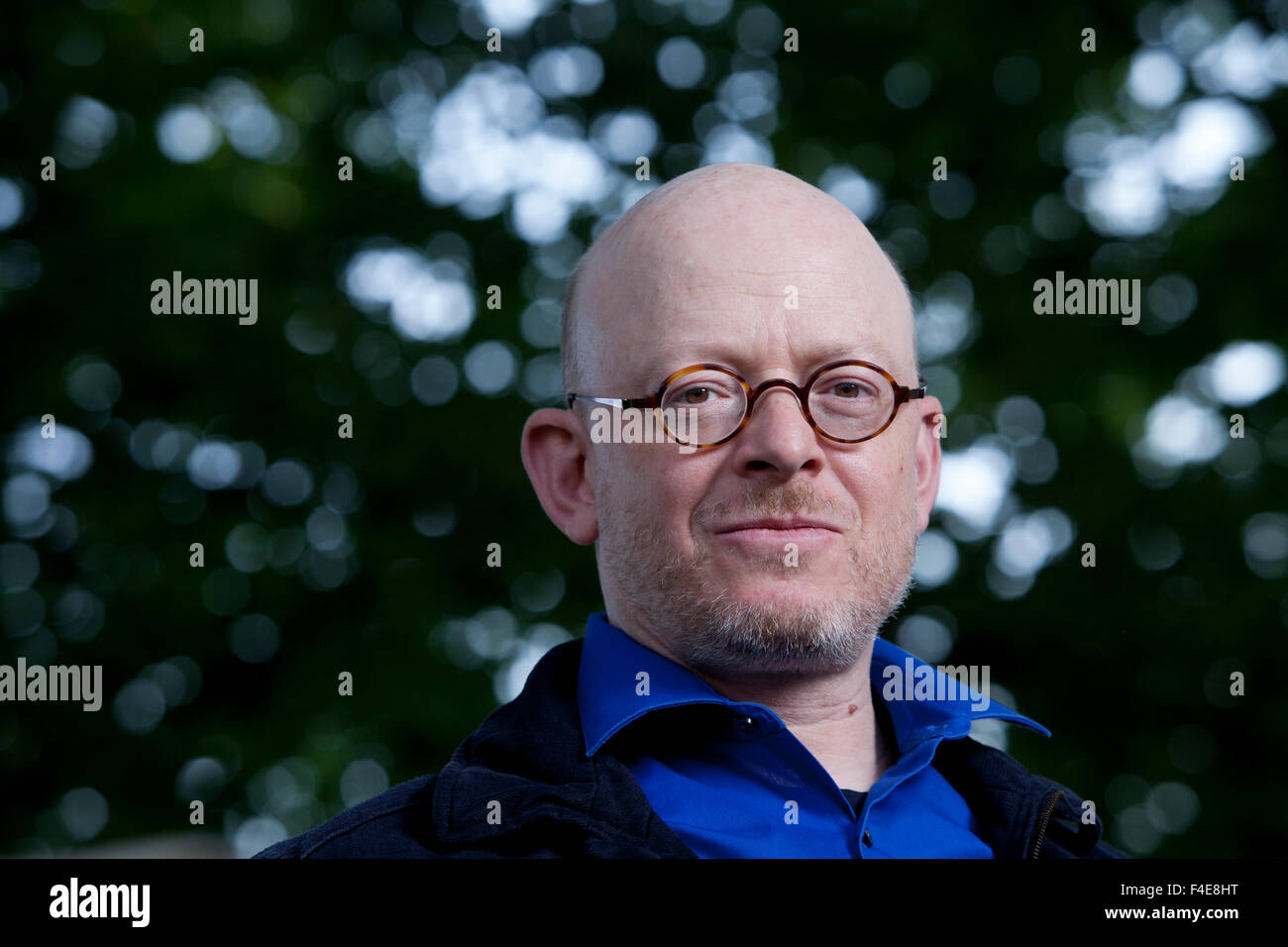 Timur Vermes, the German writer, at the Edinburgh International Book Festival 2015. Edinburgh, Scotland. 23rd August Stock Photo