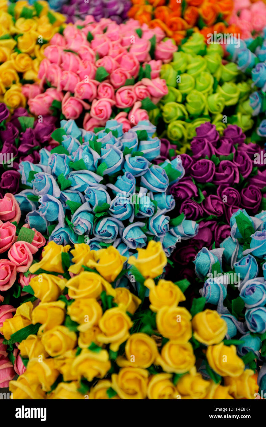 Crepe paper flowers for sale at market san miguel de allende stock crepe paper flowers for sale at market san miguel de allende mexico mightylinksfo