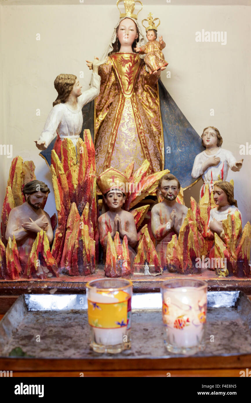 Depiction of heaven and hell, San Miguel de Allende, Mexico. - Stock Image