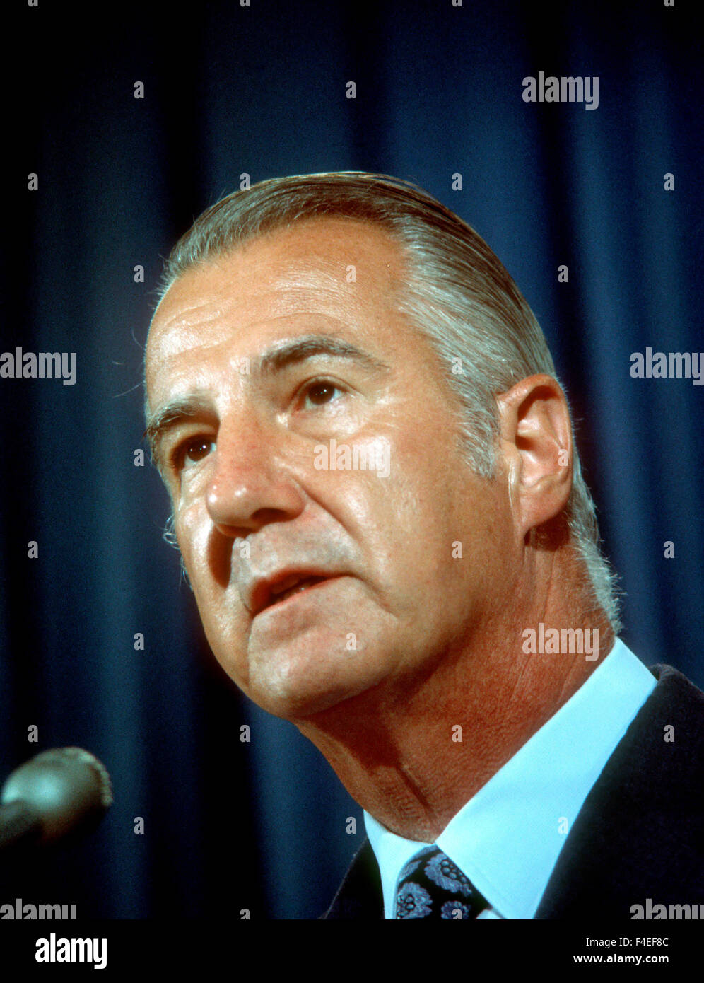 Vice President Spiro Agnew in August 1973. - Stock Image