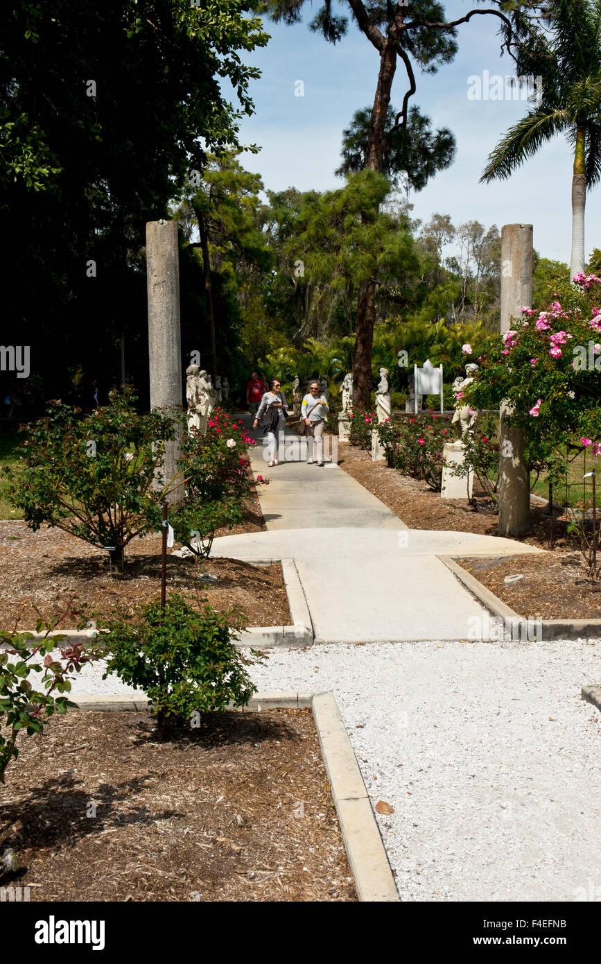 USA, Florida, Sarasota, Ringling Estate Grounds Rose Garden Gazebo ...