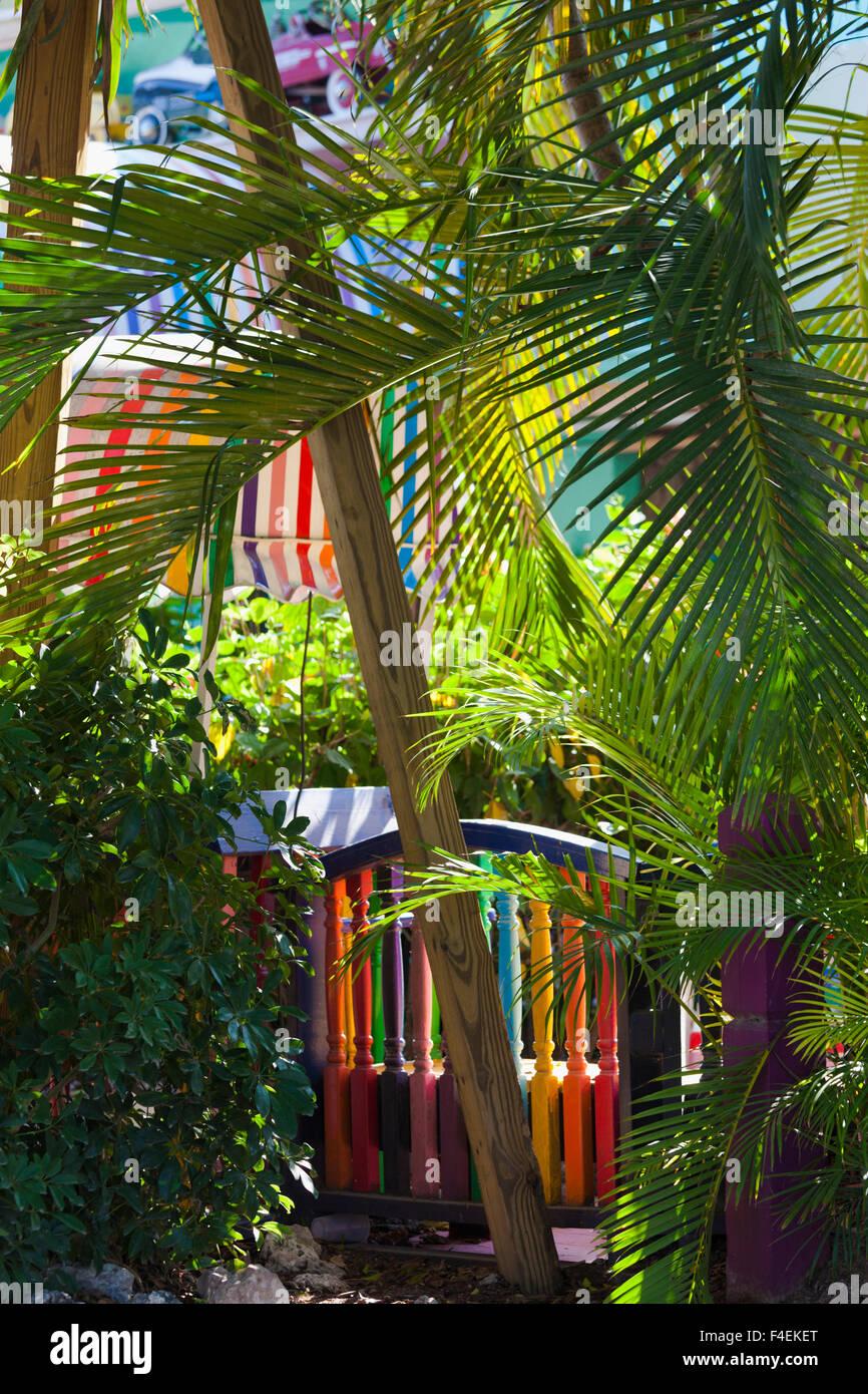 USA, Florida, Gulf Coast, Captiva Island, detail of The Bubble Room restaurant. Stock Photo