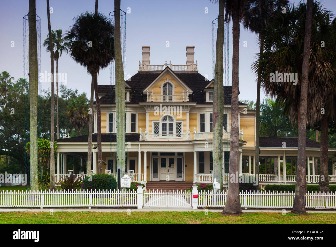 USA, Florida, Gulf Coast, Fort Myers, Burroughs Home And Gardens, Historic  House.