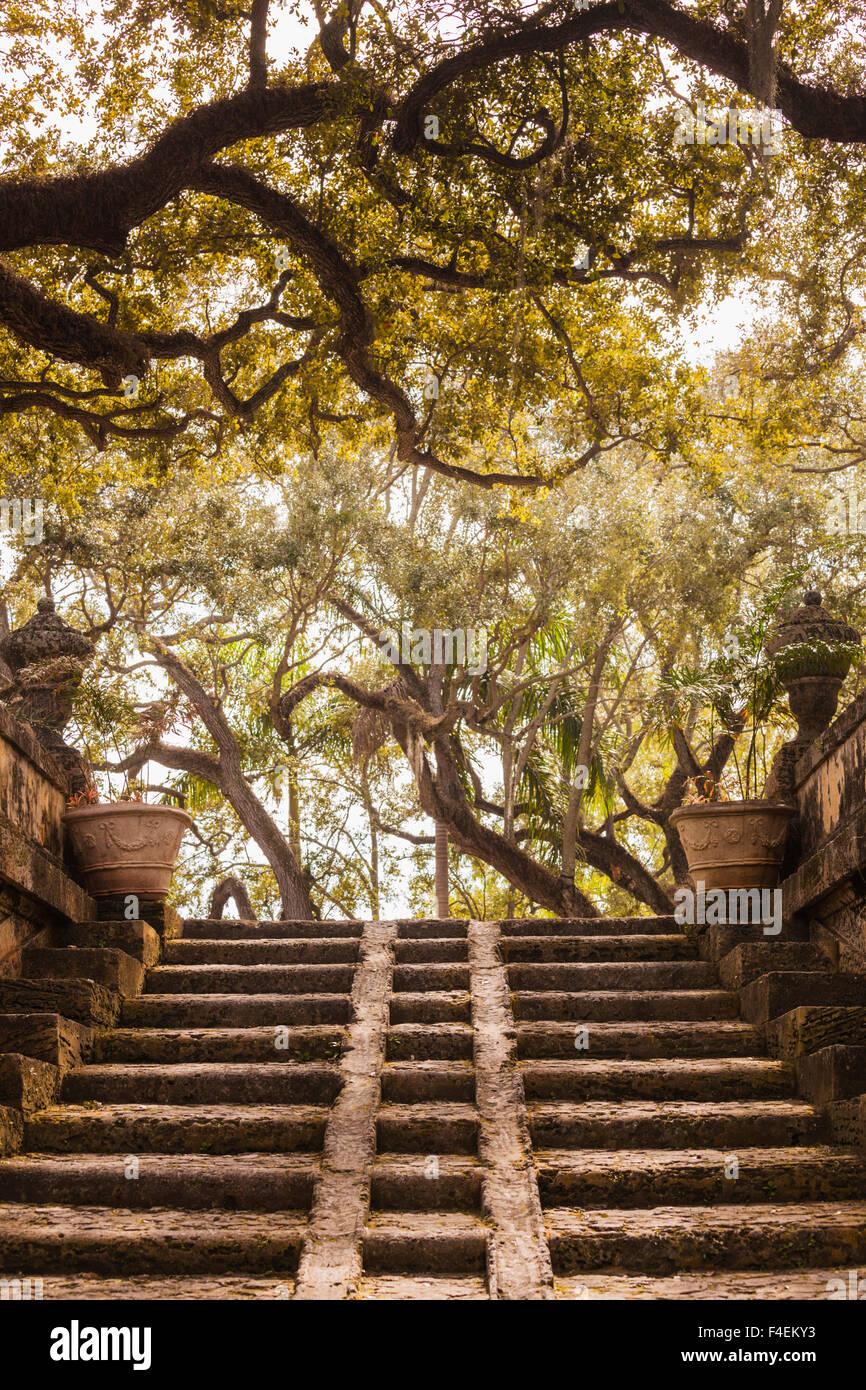 USA, Florida, Miami-area, Coconut Grove, Vizcaya Museum and Gardens ...