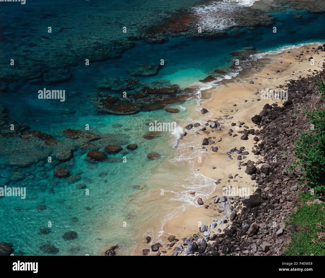 Aerial Haena Beach Park Haena Stock Photos & Aerial Haena