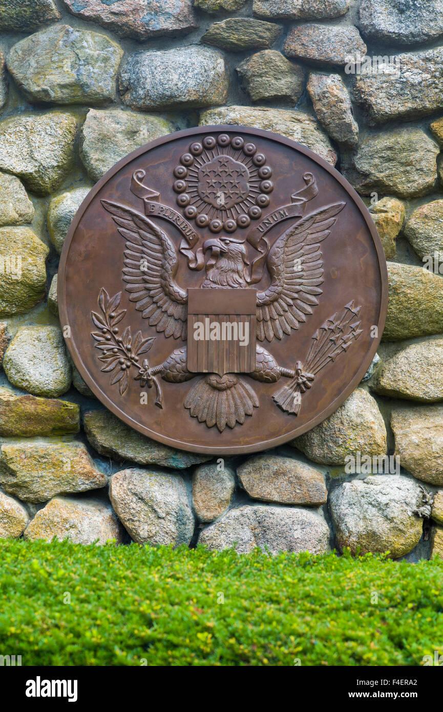 Massachusetts, Cape Cod, Hyannis, JFK Memorial, monument to President John F. Kennedy - Stock Image