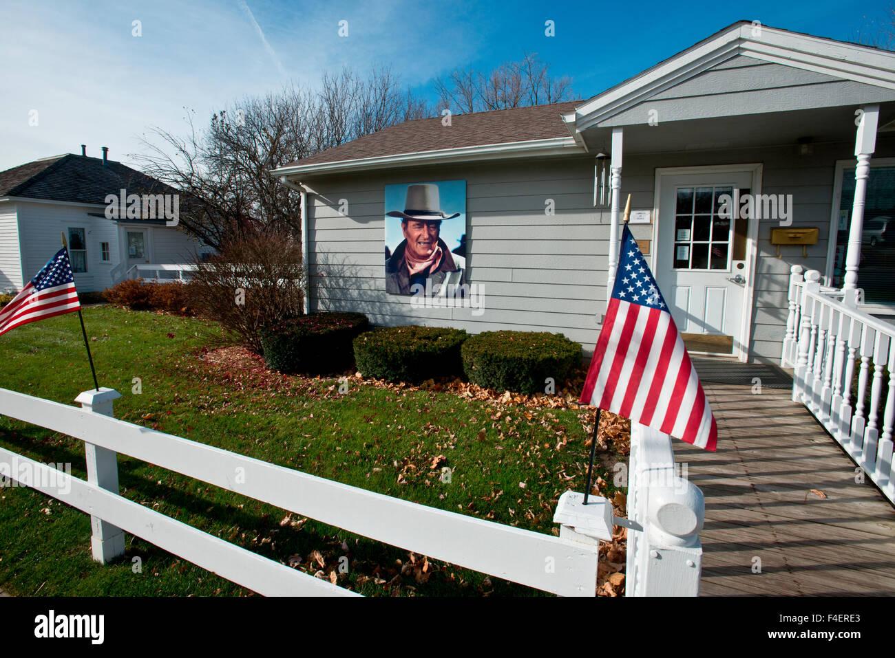 USA, Iowa, Winterset. John Wayne Birthplace Visitor Center (Large format sizes available). - Stock Image