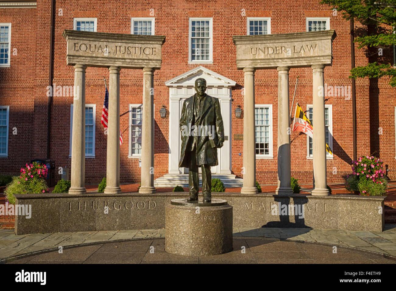 USA, Maryland, Annapolis. Thurgood Marshall Memorial Statue. - Stock Image