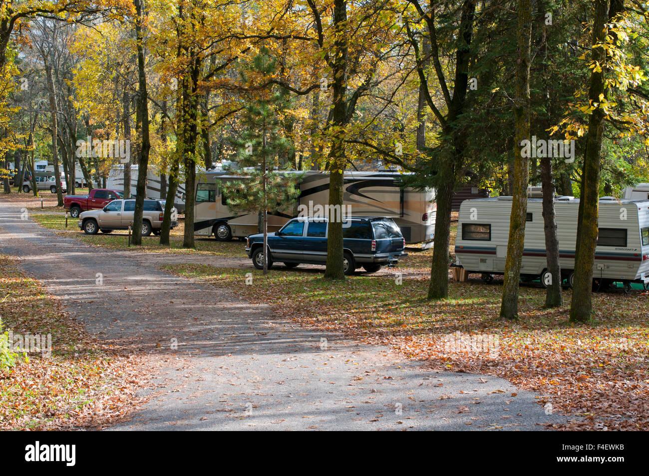 USA, Minnesota, Itasca State Park, Bear Paw Campground Stock