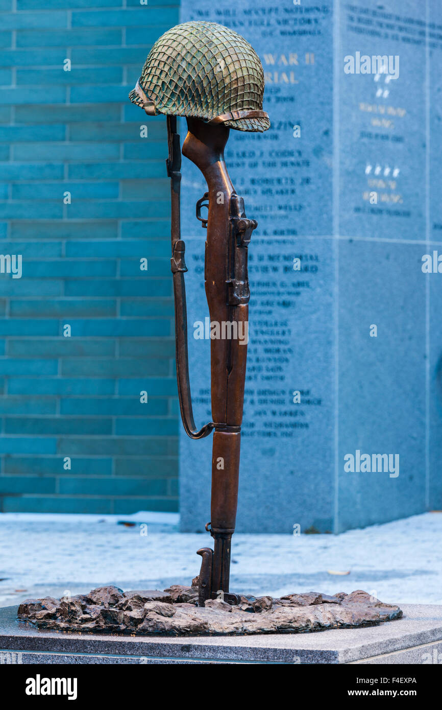 USA, New Jersey, Trenton, World War Two Veteran's Memorial - Stock Image
