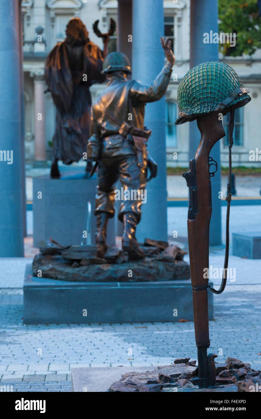 USA, New Jersey, Trenton, World War Two Veteran's Memorial - Stock Image