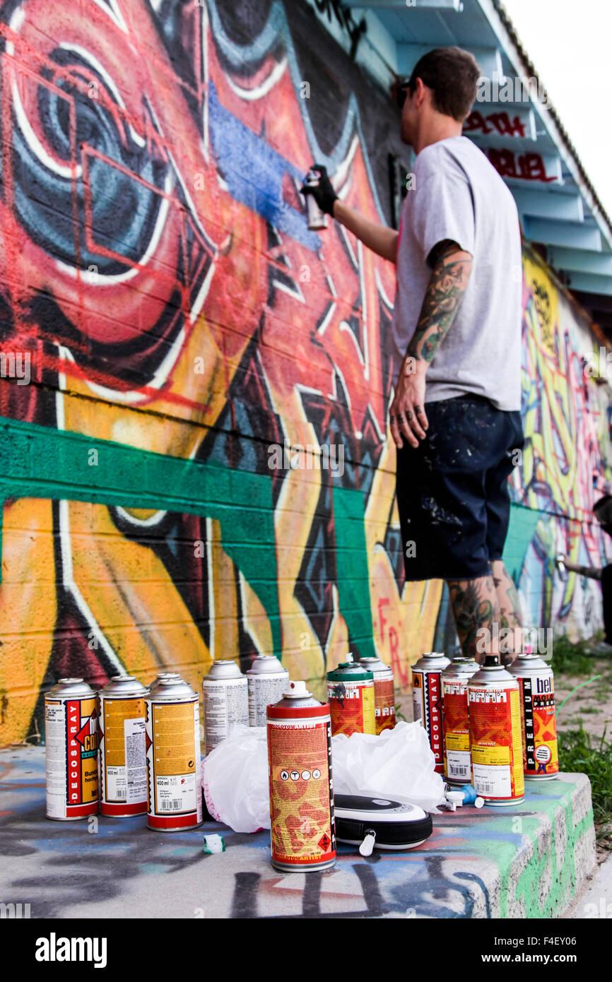 Spray Paint Cans For Graffiti Art Las Vegas Nevada Usa