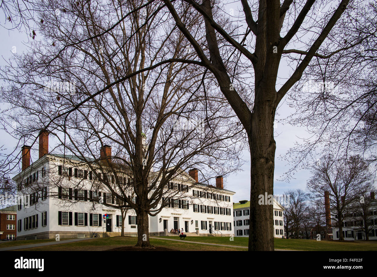 New Hampshire, Hanover, Dartmouth College, Dartmouth Hall on The Green Stock Photo