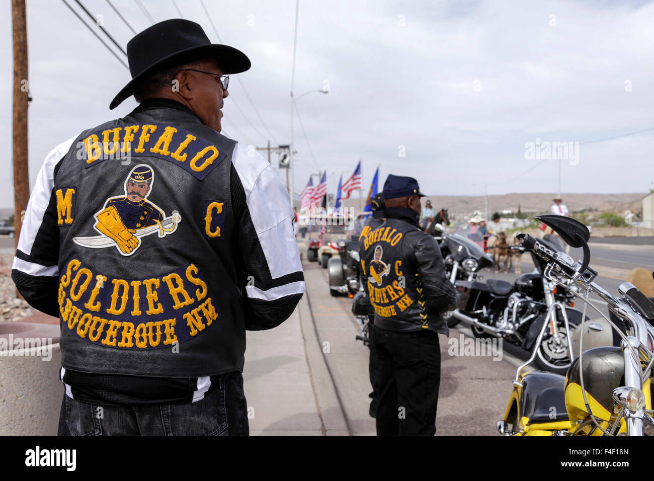 Hamsters Motorcycle Club >> Buffalo Soldiers Motorcycle club waiting to ride in the parade, Truth Stock Photo: 88840773 - Alamy