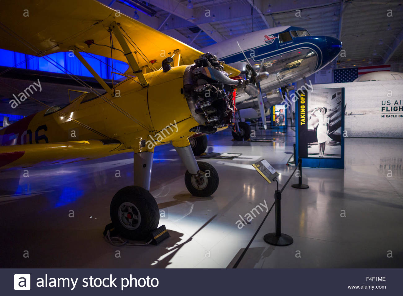 North Carolina, Charlotte, Carolina's Aviation Museum, interior - Stock Image