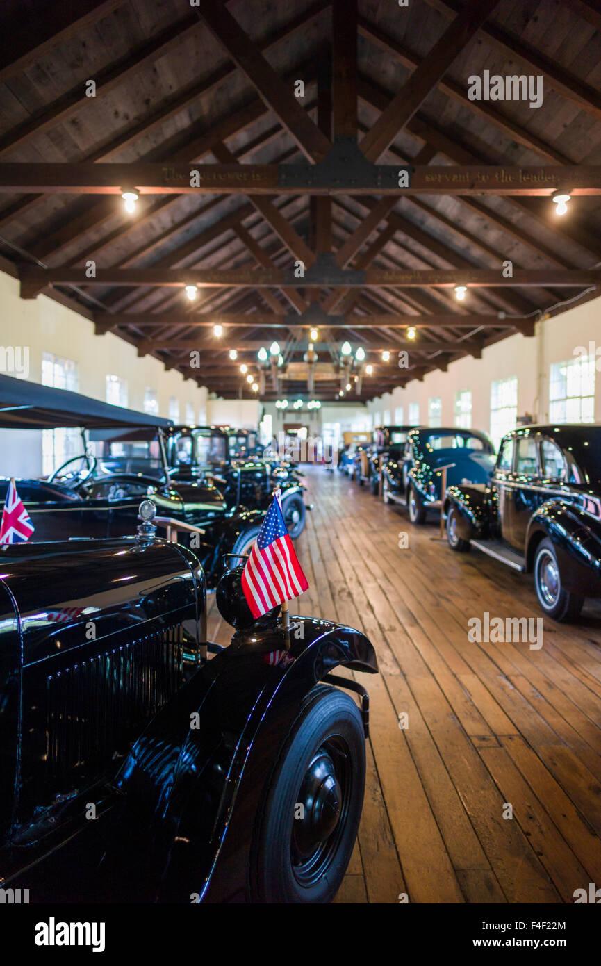North Carolina, Asheville, Estes-Winn Memorial Automobile Museum, interior Stock Photo