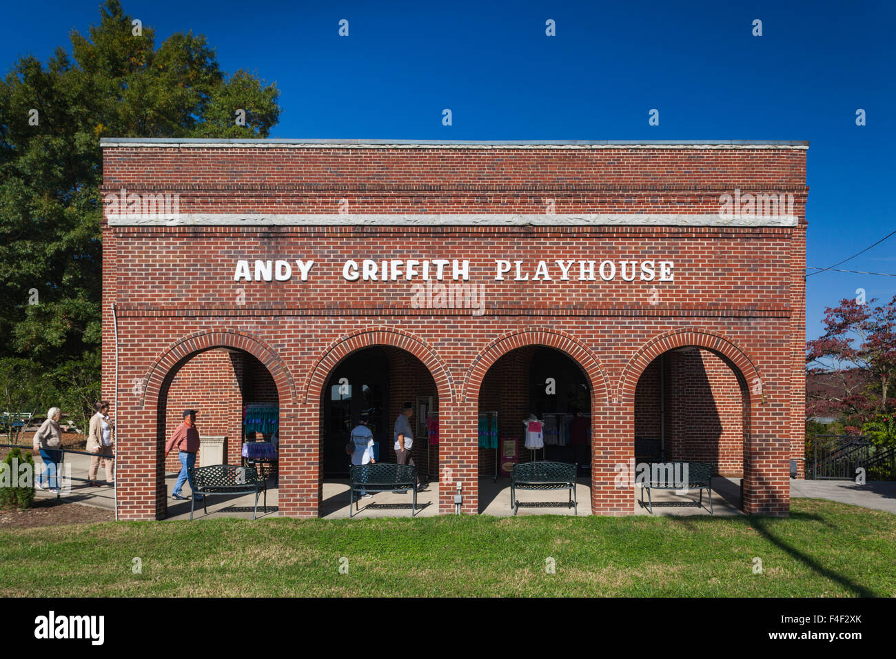 North Carolina, Mt. Airy, Andy Griffith Playhouse, dedicated to the star of the Andy of Mayberry TV show - Stock Image