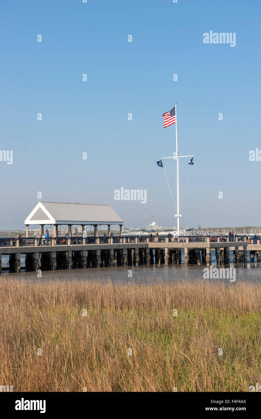USA, South Carolina, Charleston, Vendue Wharf, Waterfront park. - Stock Image