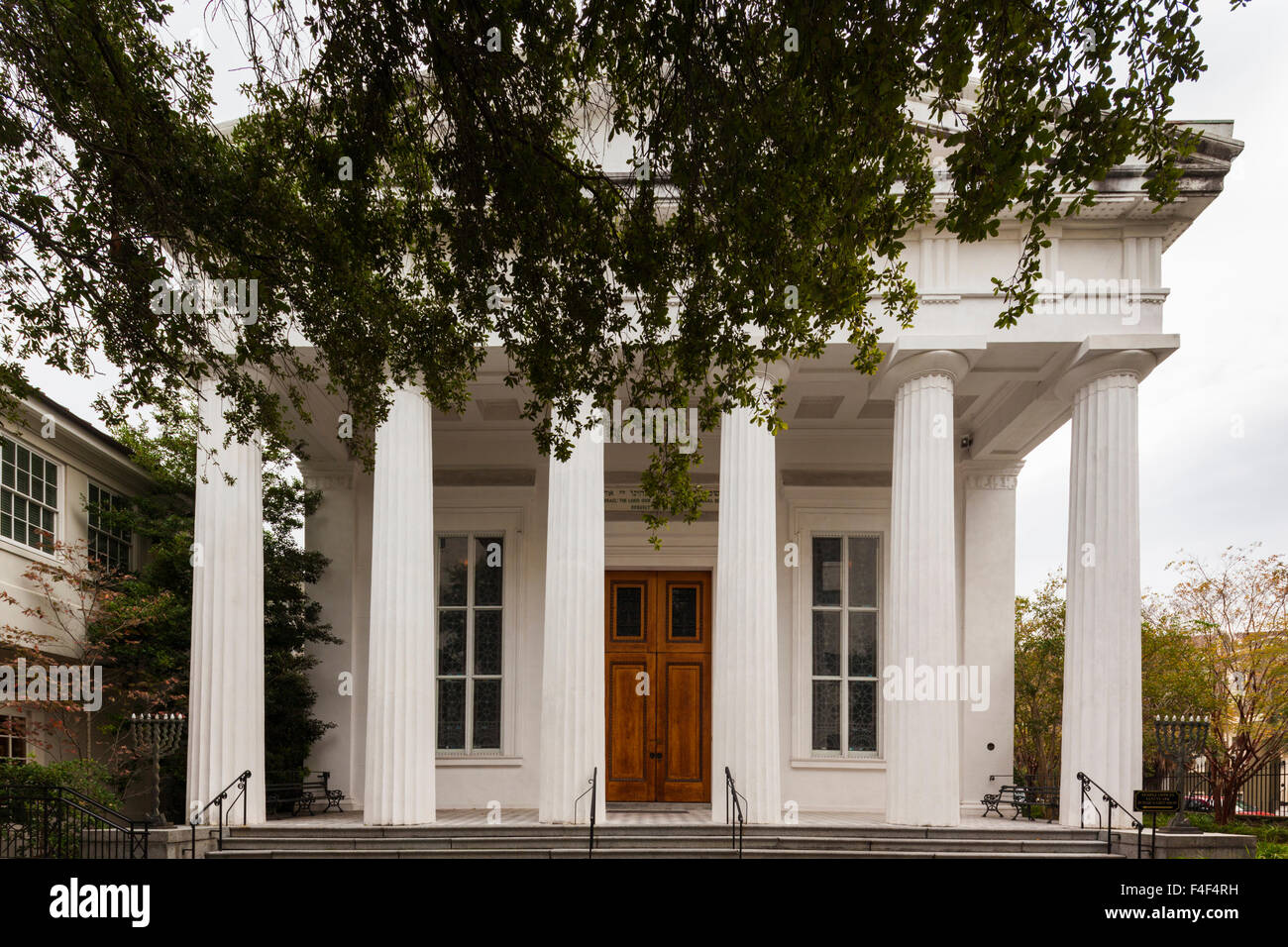 South Carolina, Charleston, Kahal Kadosh Beth Elohim Synagogue, oldest continuously used synagogue in the exterior - Stock Image