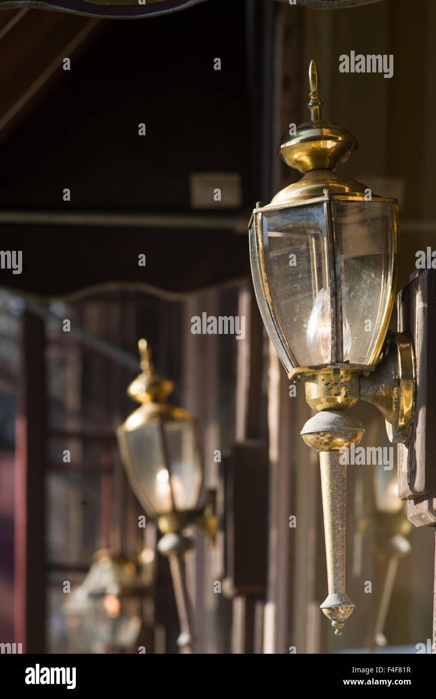 Vermont, Woodstock, antique lamps Stock Photo