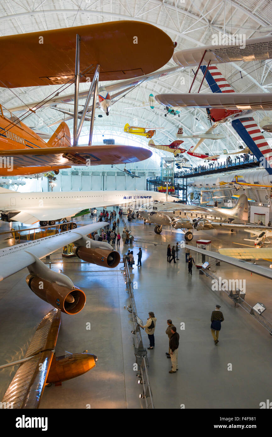 USA, Virginia, Herndon, National Air and Space Museum, Steven F. Udvar-Hazy Center, air museum, commercial aviation - Stock Image