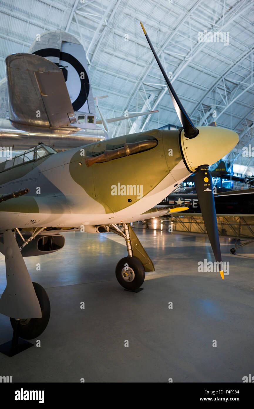 USA, Virginia, Herndon, National Air and Space Museum, Steven F. Udvar-Hazy Center, air museum, WW2-era British - Stock Image