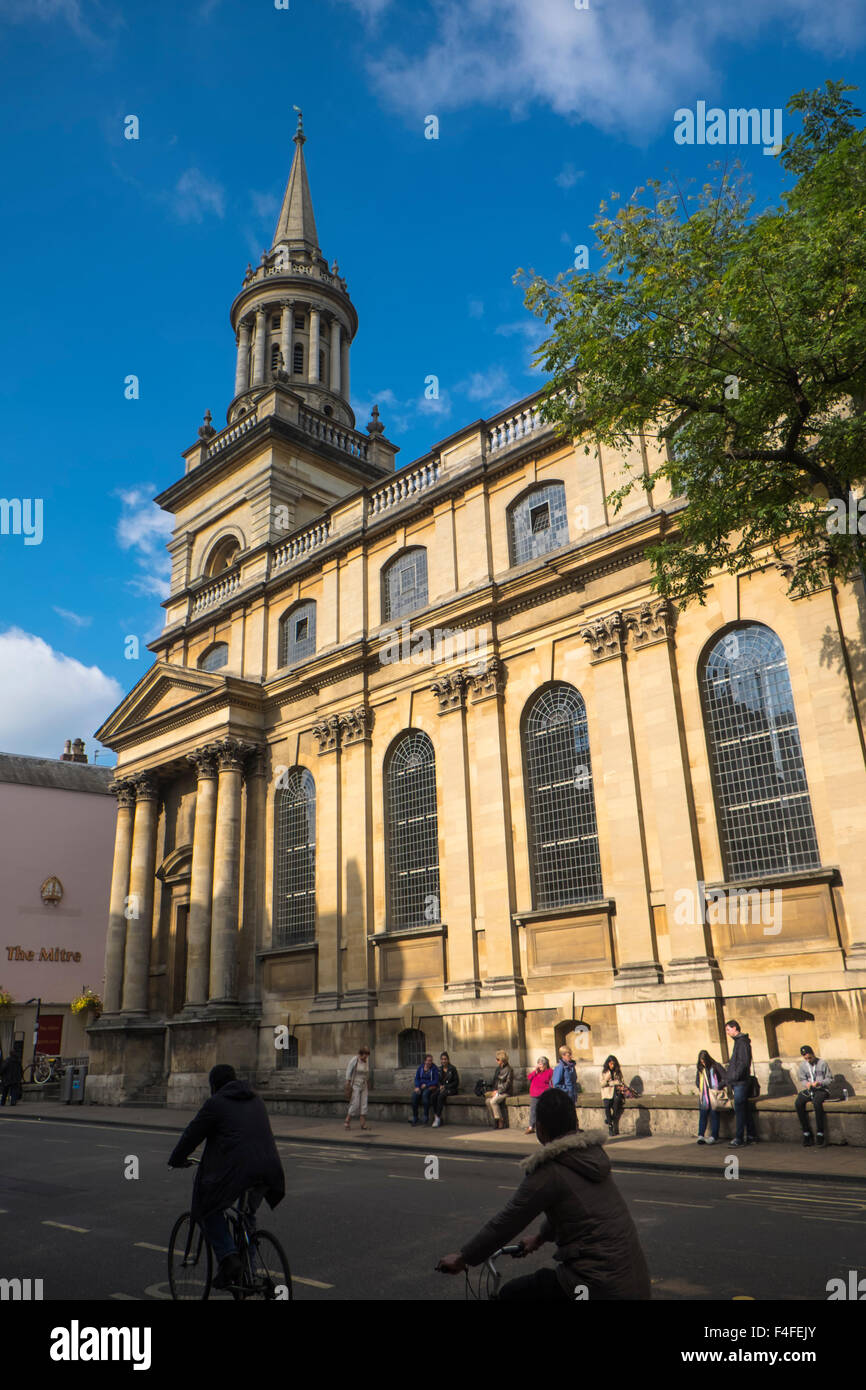 A visit to the historic University City of Oxford Oxfordshire England UK Lincoln Colleges Library - Stock Image