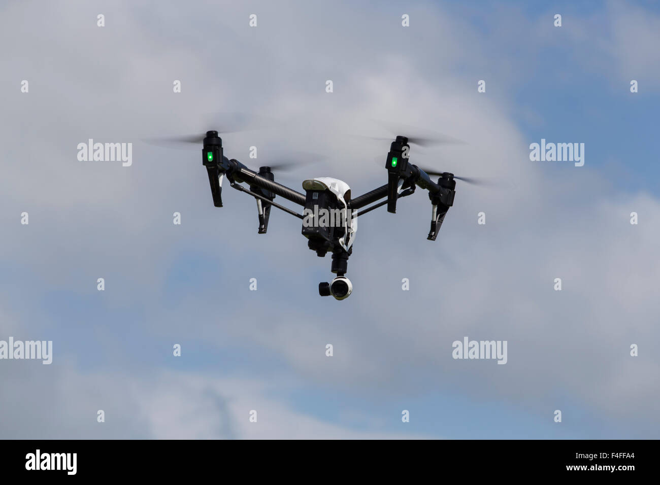 Quadcopter Drone DJI Inspire with camera for aerial photography, photos and videos. - Stock Image