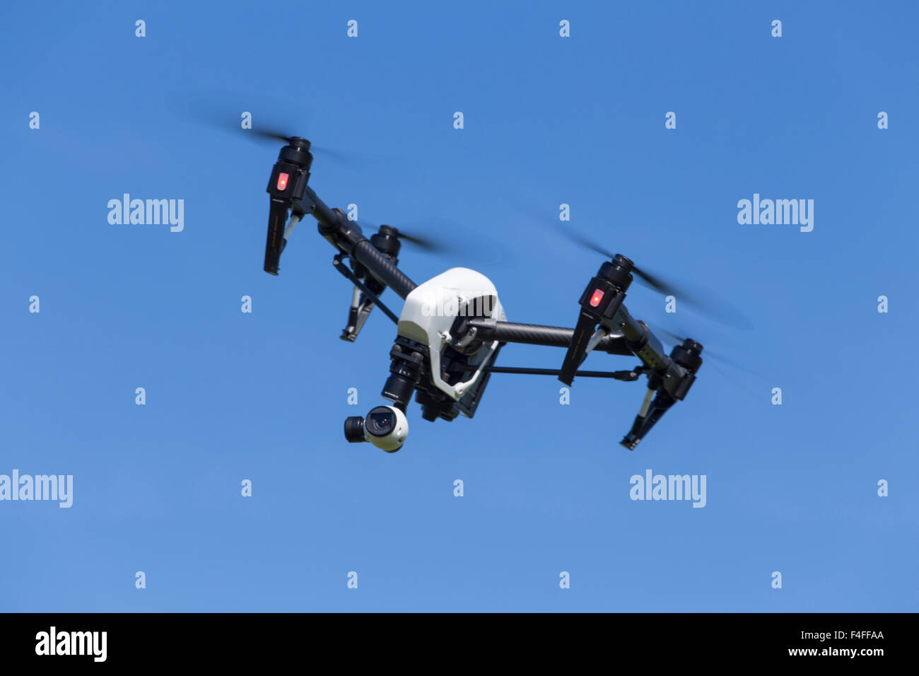 Quadcopter Drone DJI Inspire with camera for aerial photography and photos. - Stock Image