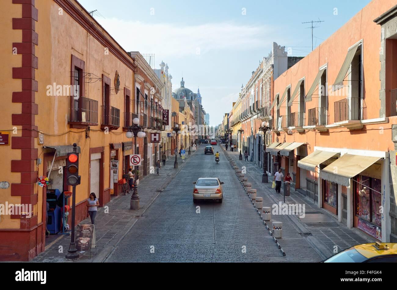 Avenida 7 Oriente, Heroica Puebla de Zaragoza, Puebla, Mexico - Stock Image