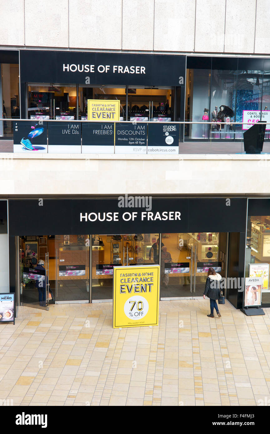 'House of Fraser' store, UK - Stock Image