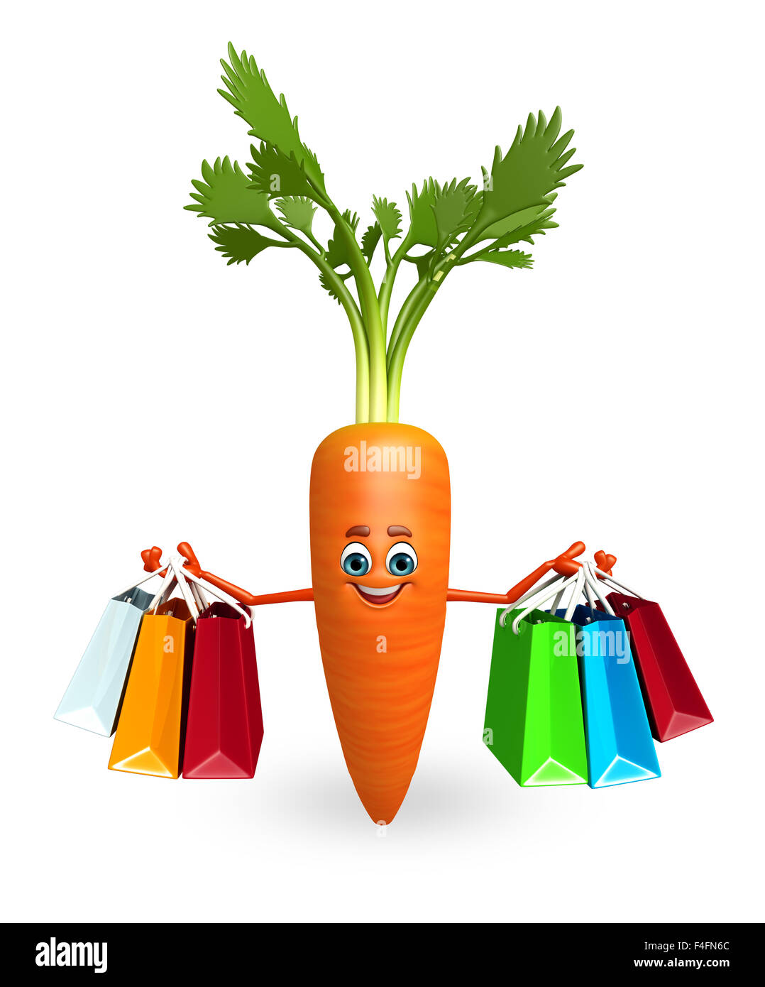 3d Rendered Illustration Of Carrot Cartoon Character Stock Photo