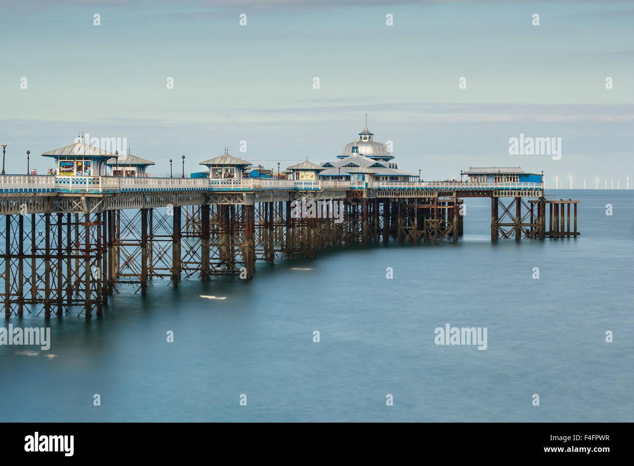 Llandudno Pier, Clwyd, Conwy, North Wales - Stock Image
