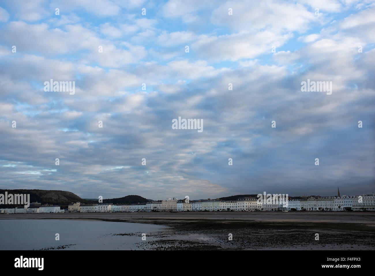 The Promenade, from the pier, Llandudno, Clwyd, North Wales. - Stock Image