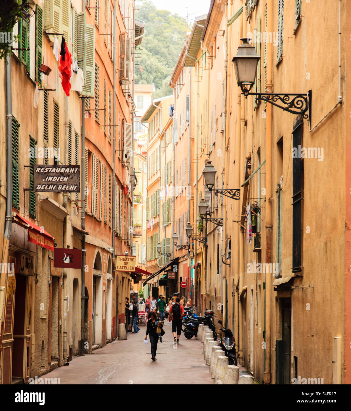 medieval streets in the old town the vieille ville of nice in the stock photo 88857811 alamy. Black Bedroom Furniture Sets. Home Design Ideas