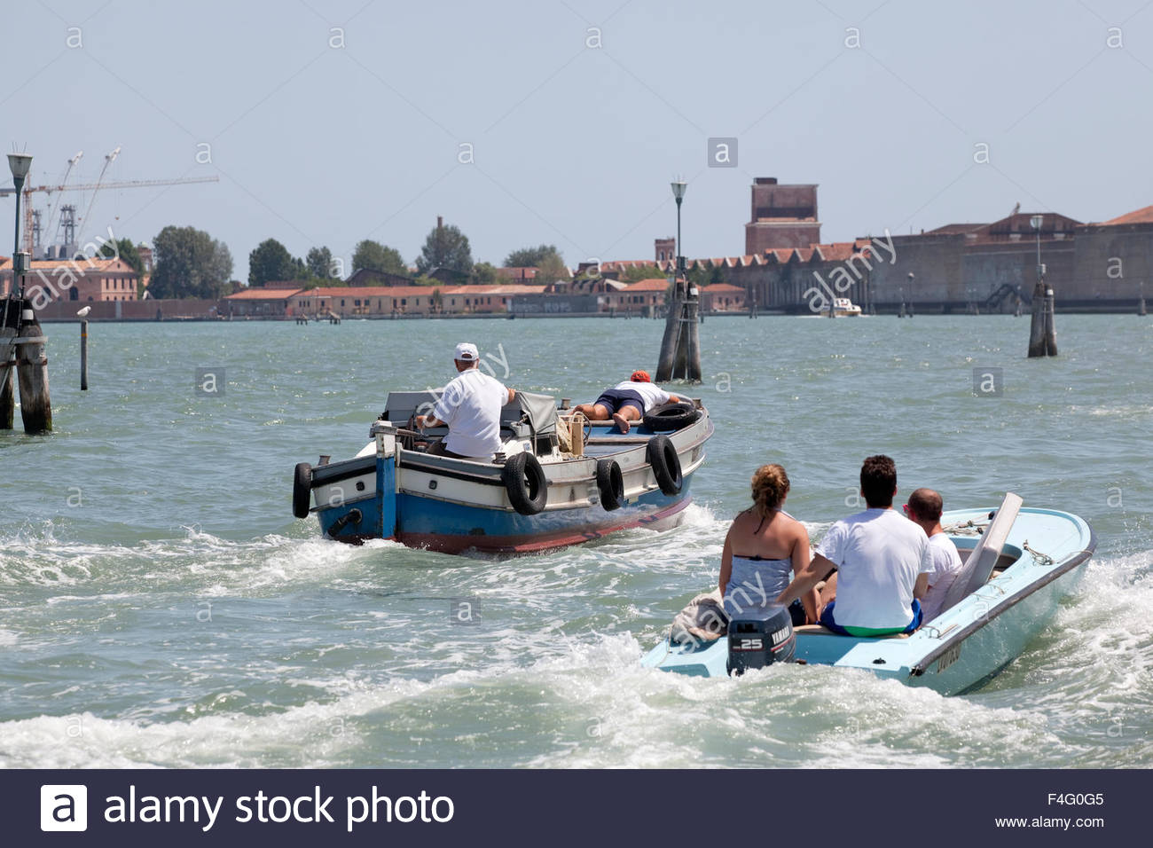 An ordinary day at Venice - Stock Image