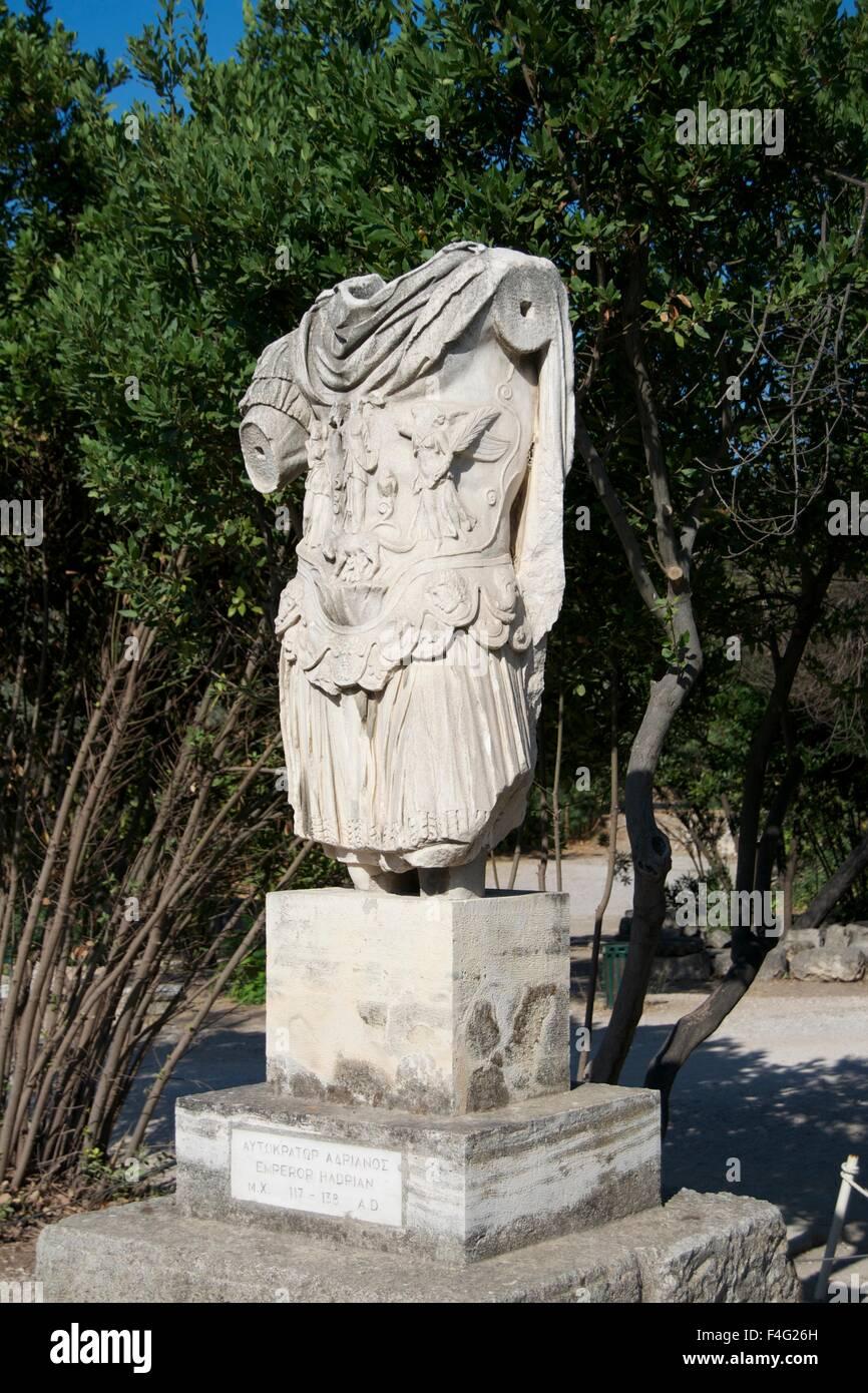 Broken Greek king warrior statue ancient god myth - Stock Image