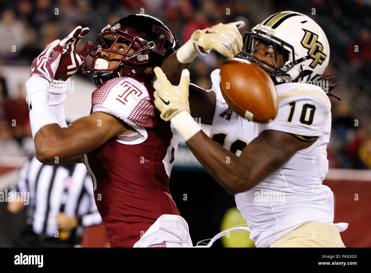 philadelphia, pennsylvania, usa. 17th oct, 2015. ucf knights stock