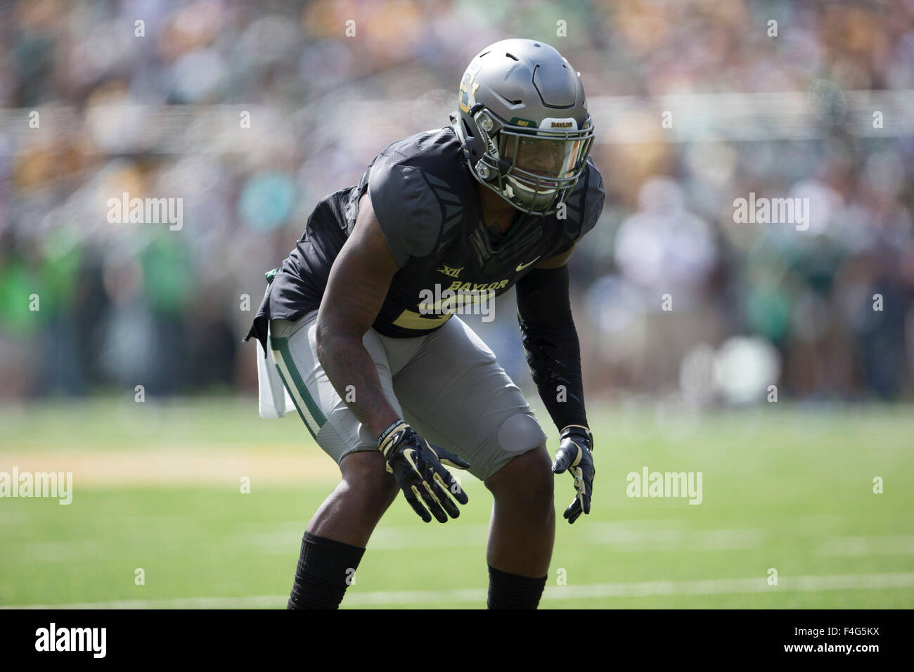 Waco, Texas, USA. 17th Oct, 2015.  during the NCAA football game between the West Virginia Mountaineers and Baylor Bears at McLane Stadium in Waco, Texas. JP Waldron/Cal Sport Media/Alamy Live News Stock Photo