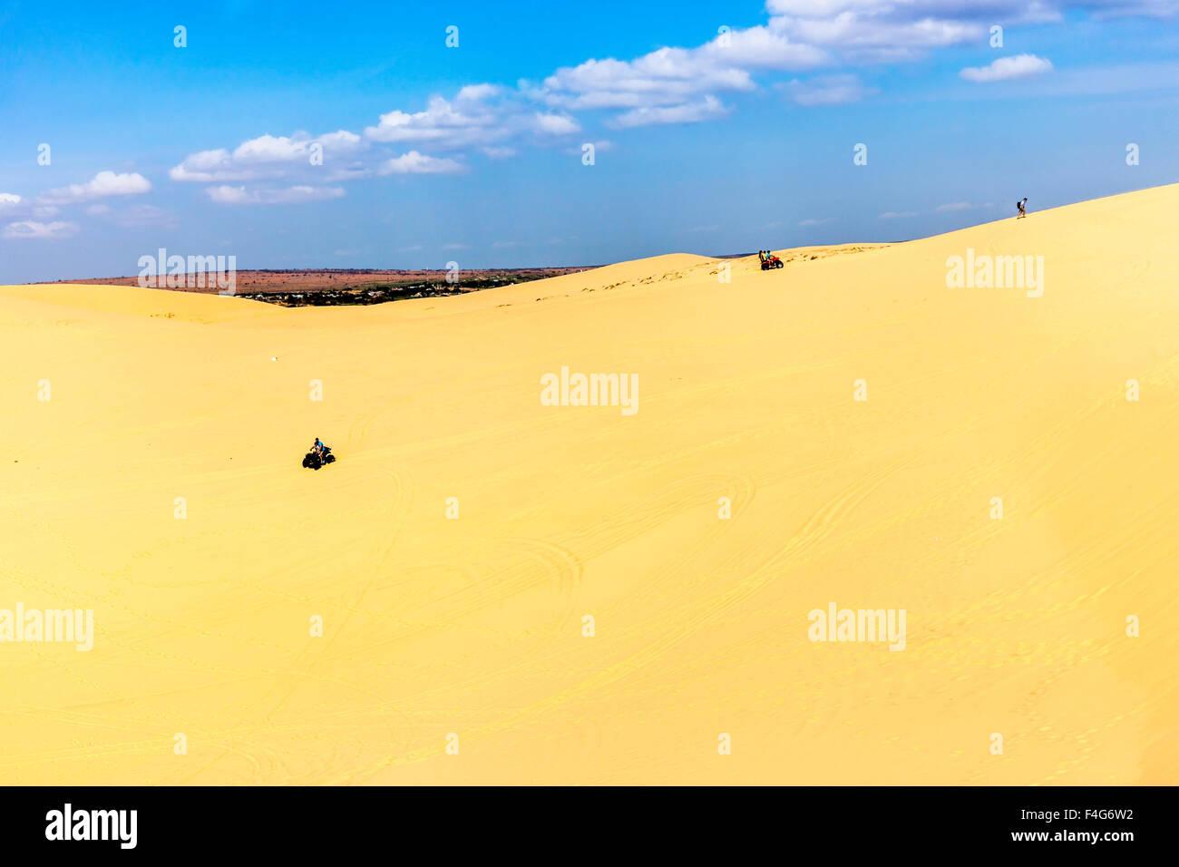 NIce sand dunes in Bau Trang Resort, Phan Thiet, Vietnam - Stock Image