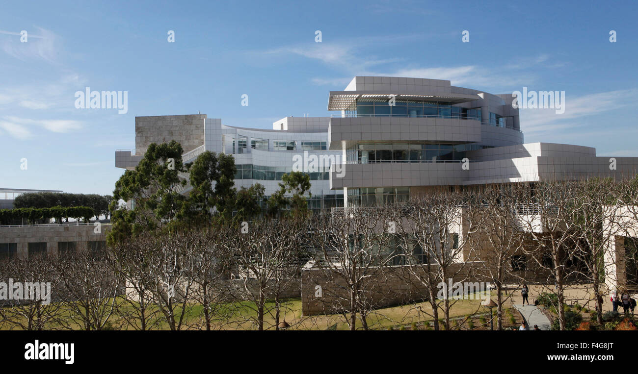 The research and preservation area of the Getty Center in Los Angeles, California, USA. - Stock Image