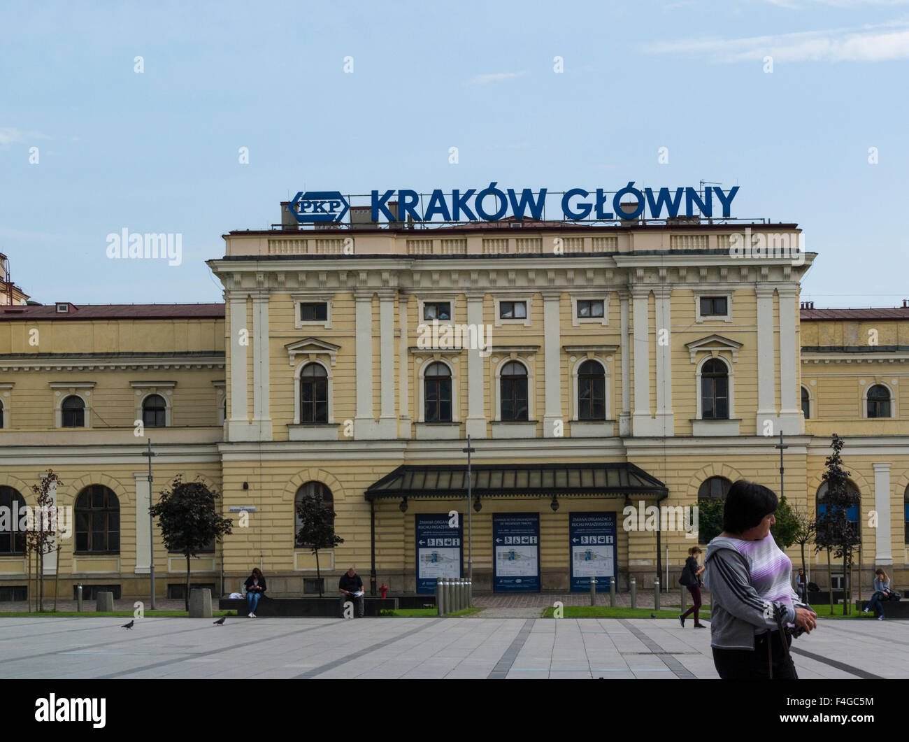 Kraków Główny Osobowy largest and most centrally located Railway station Poland built between 1844 - 1847  with Stock Photo