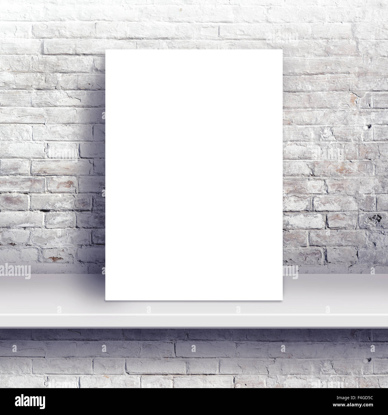 Blank poster mock up as copy space, graphic design background - Stock Image