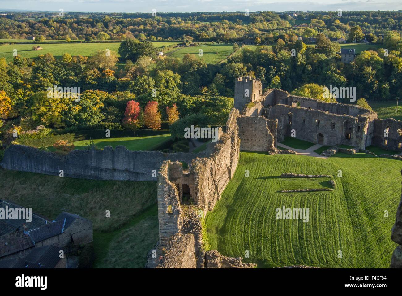 Richmond Castle, Richmond, Richmondshire, North Yorkshire, England. - Stock Image