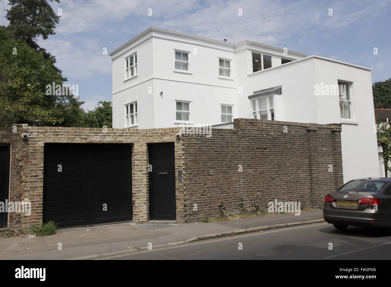 Exterior Views Of One Direction Star Harry Styles Home In North