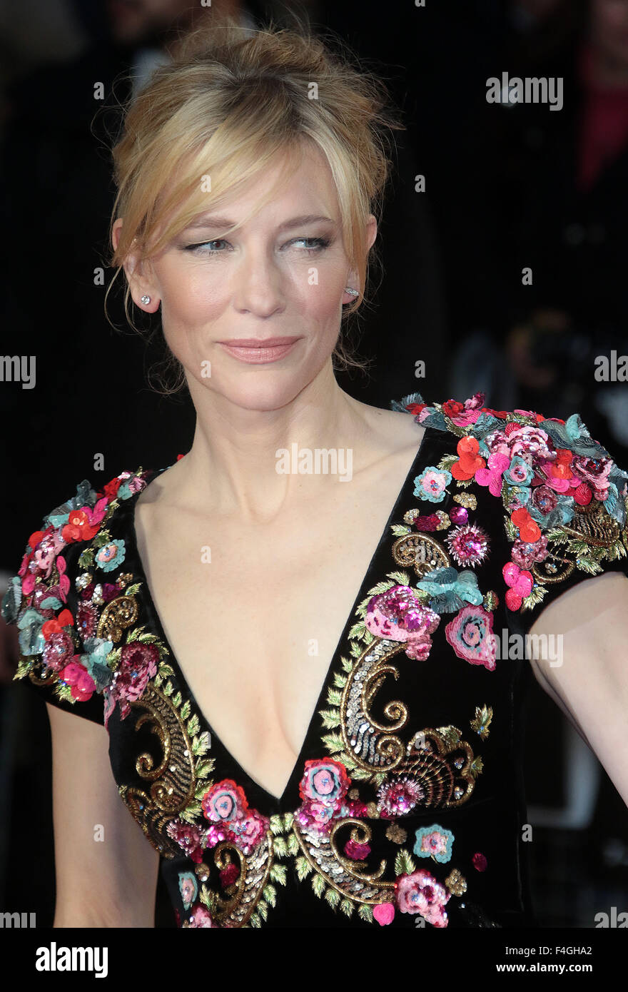 London, UK. 17th October, 2015. Cate Blanchett attending 'Truth' screening at BFI London Film Festival at - Stock Image
