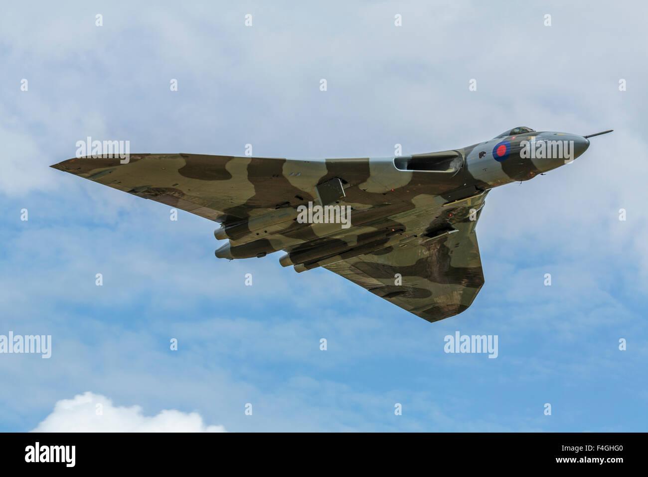 Avro Vulcan XH558 in flight - Stock Image