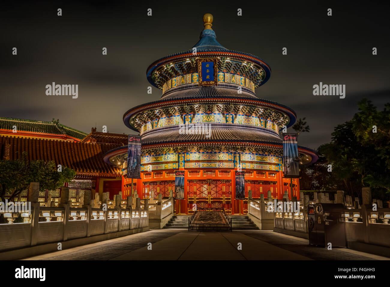 Epcot World Showcase - China - Stock Image