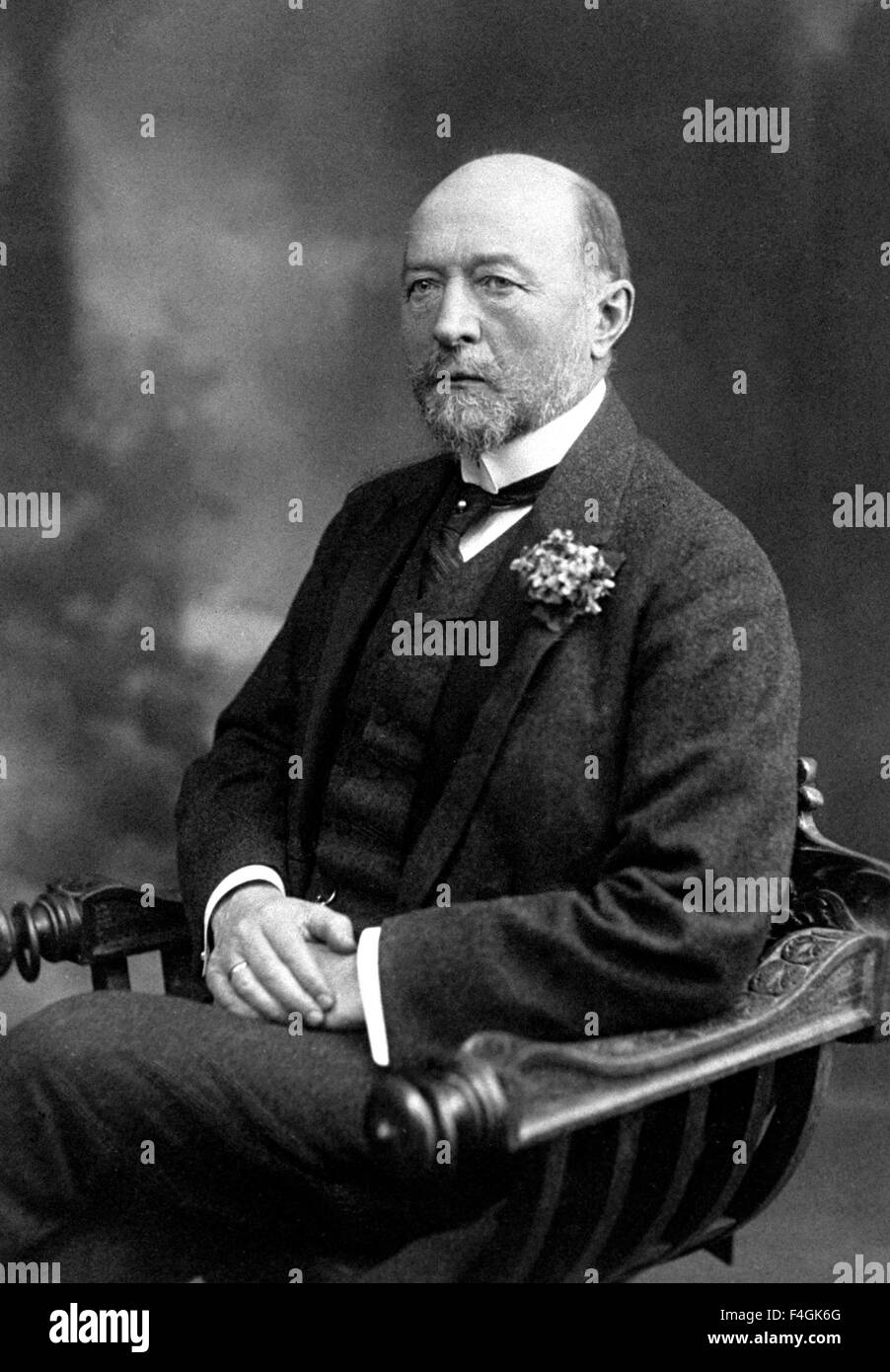 EMIL von BEHRING (1854-1917) German physiologist - Stock Image