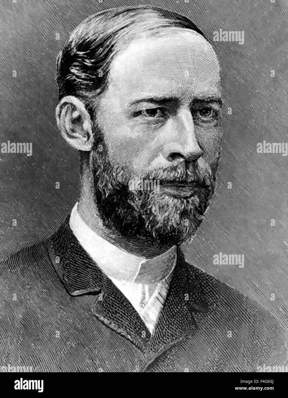 HEINRICH HERTZ (1857-1894) German physicist - Stock Image